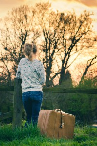girl leaves home