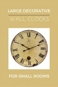 large decorative wall clocks and small rooms