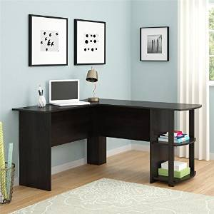 L Shaped Desk With Bookshelves Fits Perfectly Into A Corner But Provides  Plenty Of Work And Storage Space. The Two Open Bookshelves Can Be Used For  Binders, ...