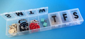 jewelry in pill box