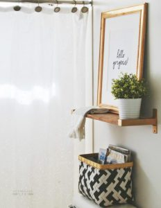 stylish basket and shelf
