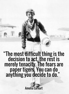 Amelia Earhart quote